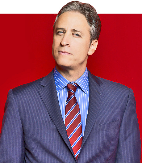 Portrait of Daily Show host John Stewart