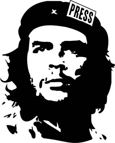 Journoterrorist's Che logo is meant to be ironical, you know.