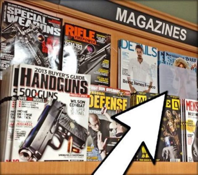 A rack of magazines at Publix.