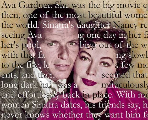 Ava Gardner with then-husband Frank Sinatra.
