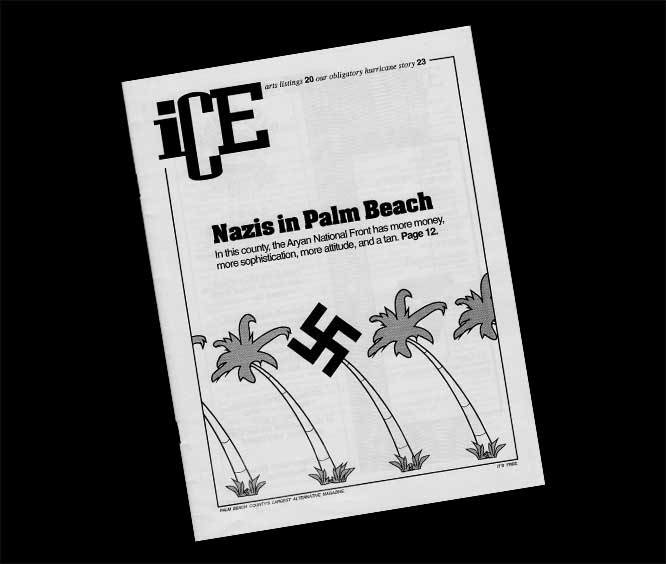 Ice Magazine cover featuring Nazis in Palm Beach
