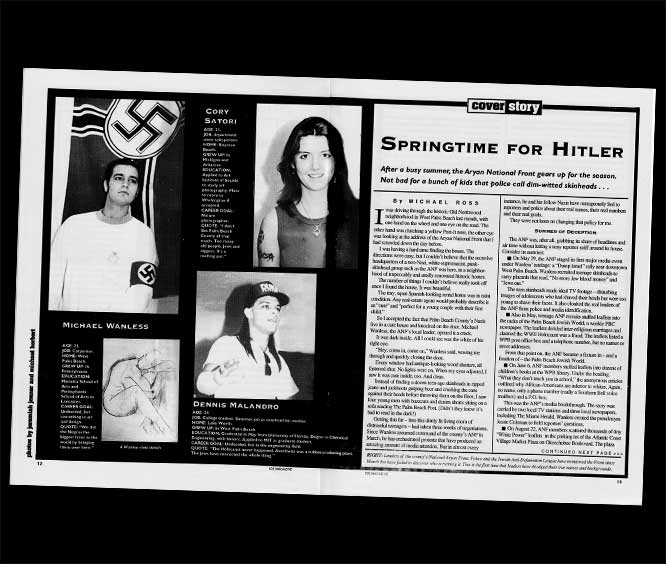 Ice Magazine pages about Palm Beach County Nazis