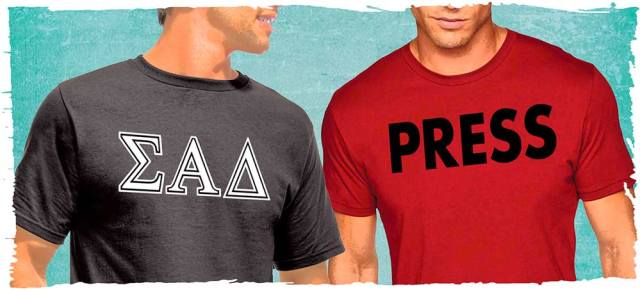 Frat shirt and press shirt