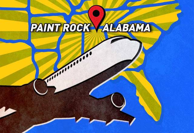 Paint Rock in northeast Alabama